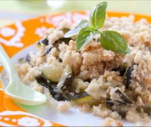 Crumble aux courgettes, parmesan et basilic - TerraVentoux