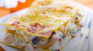 Lasagnes au poulet et aux champignons